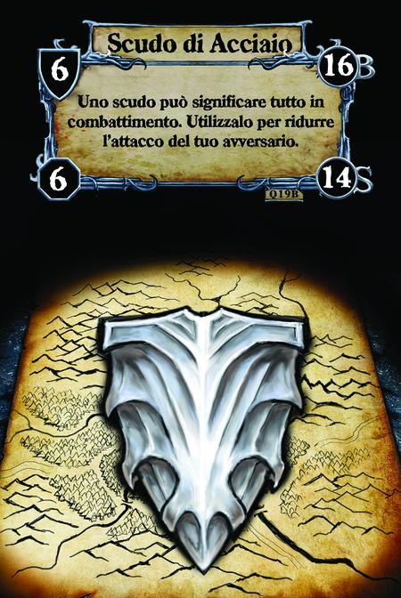 Scudo di Acciaio Uno scudo può significare tutto in combattimento. Utilizzalo per ridurre l'attacco del tuo avversario.
