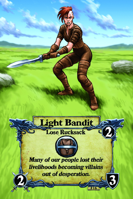 Light Bandit  Lose Rucksack  Many of our people lost their livelihoods becoming villains out of desperation.