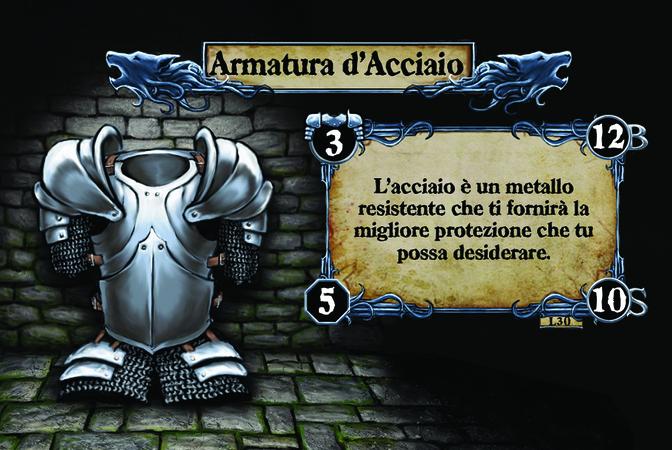 Armatura d'Acciaio L'acciaio è un metallo resistente che ti fornirà la migliore protezione che tu possa desiderare.