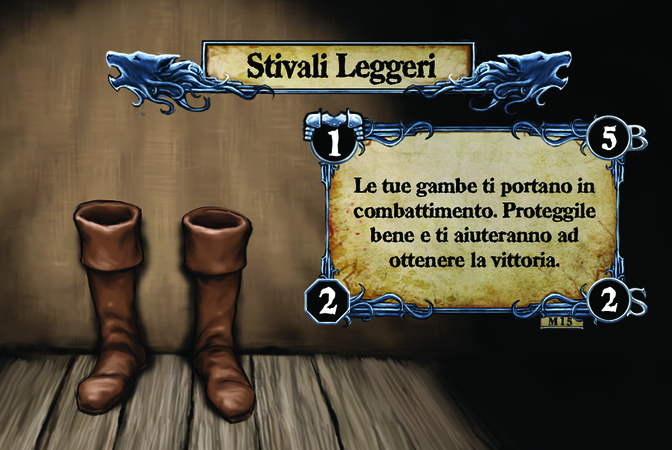 Stivali Leggeri Le tue gambe ti portano in combattimento. Proteggile bene e ti aiuteranno ad ottenere la vittoria.