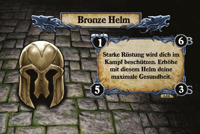 Bronze Helm Starke Rüstung wird dich im Kampf beschützen. Erhöhe mit diesem Helm deine maximale Gesundheit.