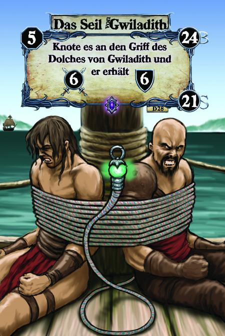 Das Seil von Gwiladith Knote es an den Griff des Dolches von Gwiladith und er erhält (A.6)(D.6)