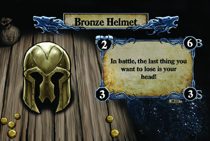 Bronze Helmet In battle, the last thing you want to lose is your head!