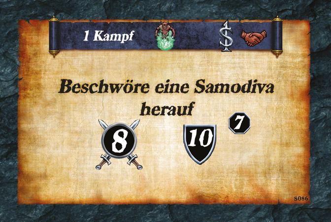 1 Kampf  Beschwöre eine Samodiva herauf (A.8)(D.10)(L.7)