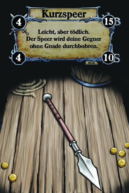 Kurzspeer Leicht, aber tödlich. Der Speer wird deine Gegner ohne Gnade durchbohren.