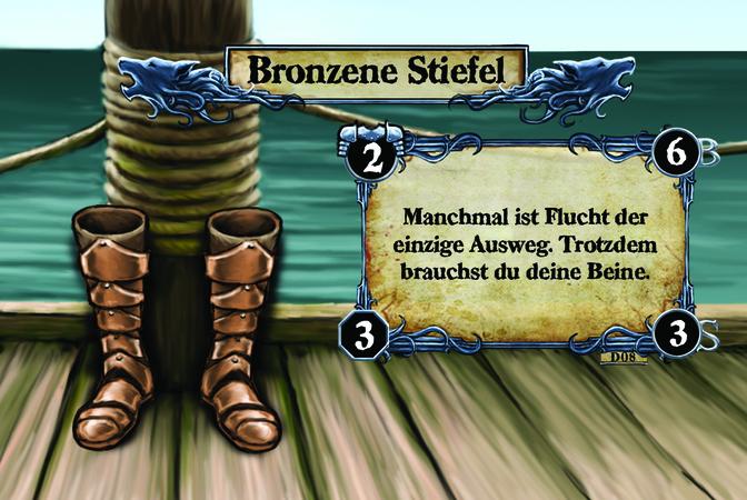 Bronzene Stiefel Manchmal ist Flucht der einzige Ausweg. Trotzdem brauchst du deine Beine.
