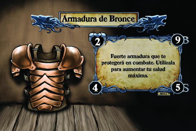 Armadura de Bronce Fuerte armadura que te protegerá en combate. Utilízala para aumentar tu salud máxima.