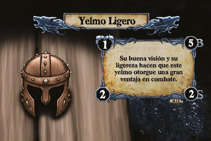Yelmo Ligero Su buena visión y su ligereza hacen que este yelmo otorgue una gran ventaja en combate.
