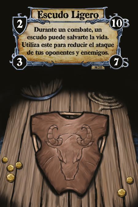 Escudo Ligero Durante un combate, un escudo puede salvarte la vida. Utiliza este para reducir el ataque de tus oponentes y enemigos.