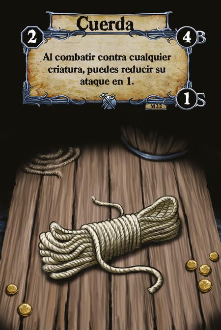 Cuerda Al combatir contra cualquier criatura, puedes reducir su ataque en 1.