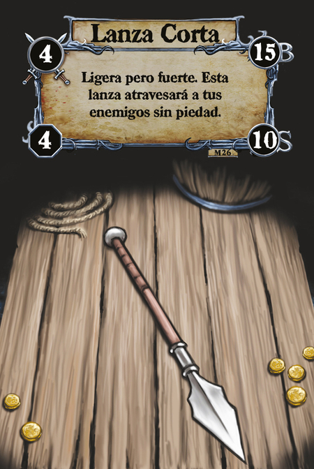 Lanza Corta Ligera pero fuerte. Esta lanza atravesará a tus enemigos sin piedad.