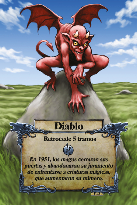 Diablo  Retrocede 5 tramos  En 1951, los magos cerraron sus puertas y abandonaron su juramento de enfrentarse a criaturas mágicas, que aumentaron su número.