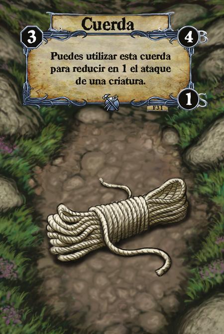 Cuerda Puedes utilizar esta cuerda para reducir en 1 el ataque de una criatura.