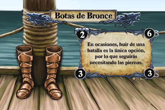 Botas de Bronce En ocasiones, huir de una batalla es la única opción, por lo que seguirás necesitando las piernas.