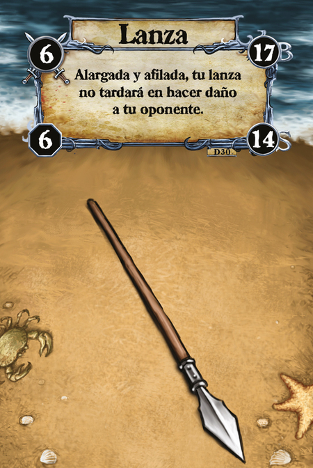 Lanza Alargada y afilada, tu lanza no tardará en hacer daño a tu oponente.