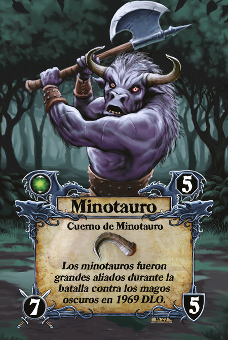 Minotauro  Cuerno de Minotauro  Los minotauros fueron grandes aliados durante la batalla contra los magos oscuros en 1969 DLO.