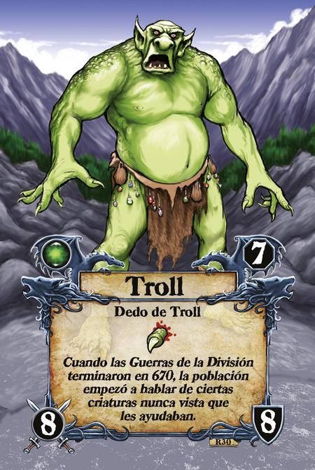 Troll  Dedo de Troll  Cuando las Guerras de la División terminaron en 670, la población empezó a hablar de ciertas criaturas nunca vista que les ayudaban.
