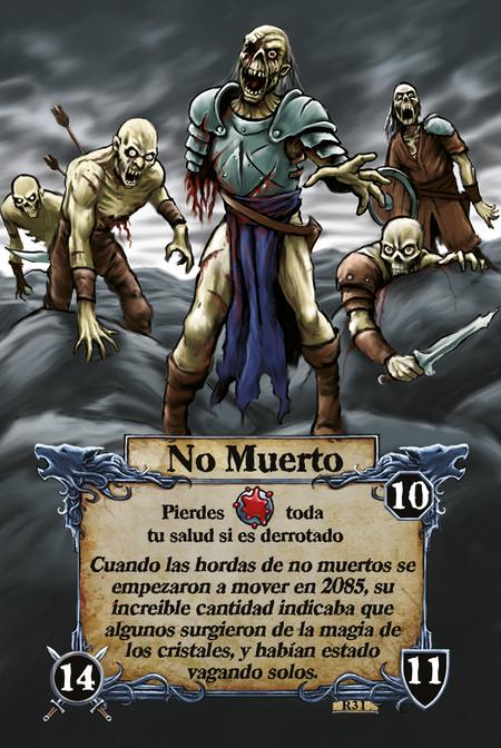 No Muerto  Pierdes toda tu salud si es derrotado  Cuando las hordas de no muertos se empezaron a mover en 2085, su increible cantidad indicaba que algunos surgieron de la magia de los cristales, y habían estado vagando solos.