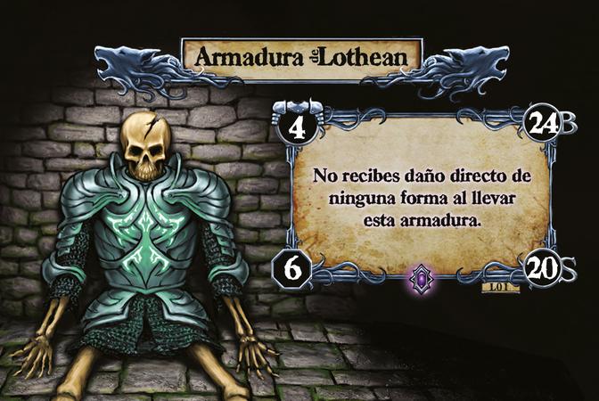 Armadura Lothean No recibes daño directo de ninguna forma al llevar esta armadura.