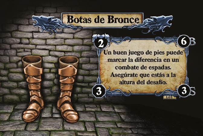 Botas de Bronce Un buen juego de pies puede marcar la diferencia en un combate de espadas. Asegúrate que estás a la altura del desafío.