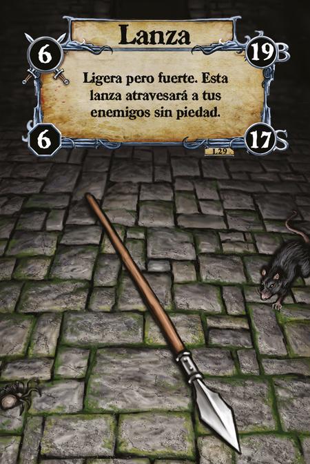 Lanza Ligera pero fuerte. Esta lanza atravesará a tus enemigos sin piedad.