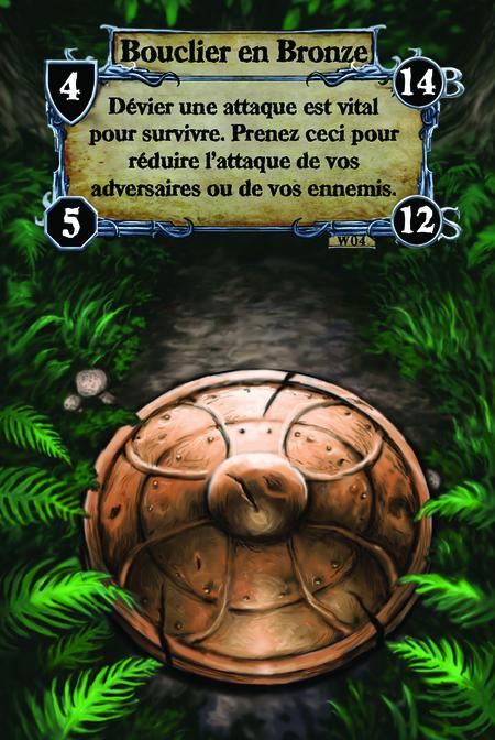 Bouclier en Bronze Dévier une attaque est vital pour survivre. Prenez ceci pour réduire l'attaque de vos adversaires ou de vos ennemis.