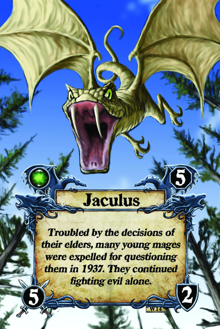 Jaculus Troubled by the decisions of their elders, many young mages were expelled for questioning them in 1937. They continued fighting evil alone.