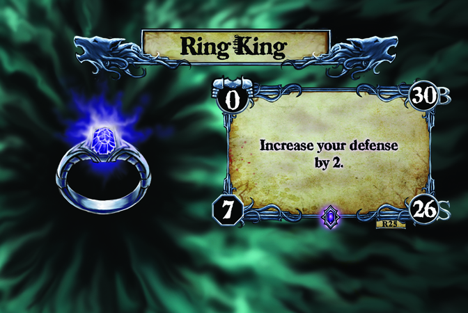 Ring of King Increase your defense by 2.