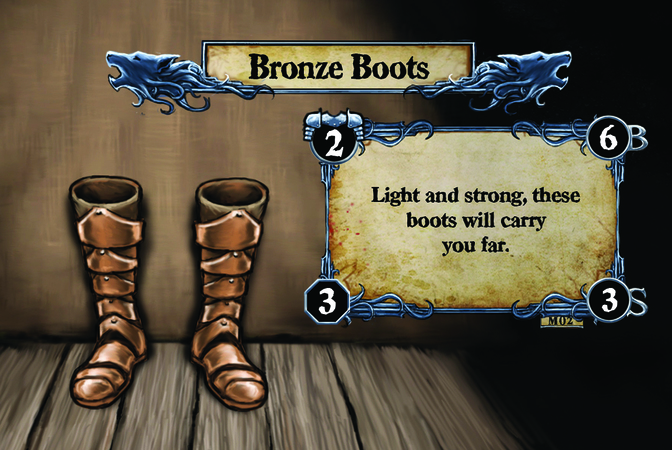 Bronze Boots Light and strong, these boots will carry you far.