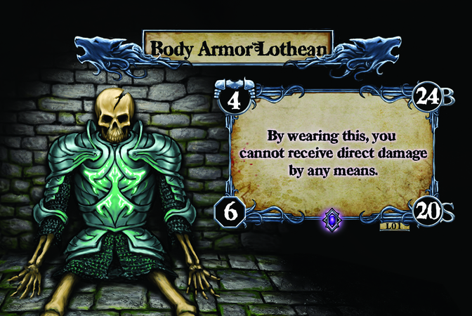 Body Armor Lothean By wearing this, you cannot receive direct damage by any means.