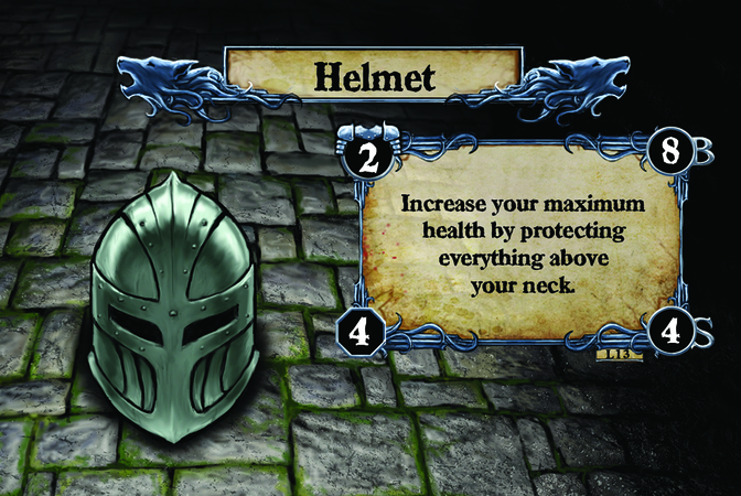 Helmet Increase your maximum health by protecting everything above your neck.