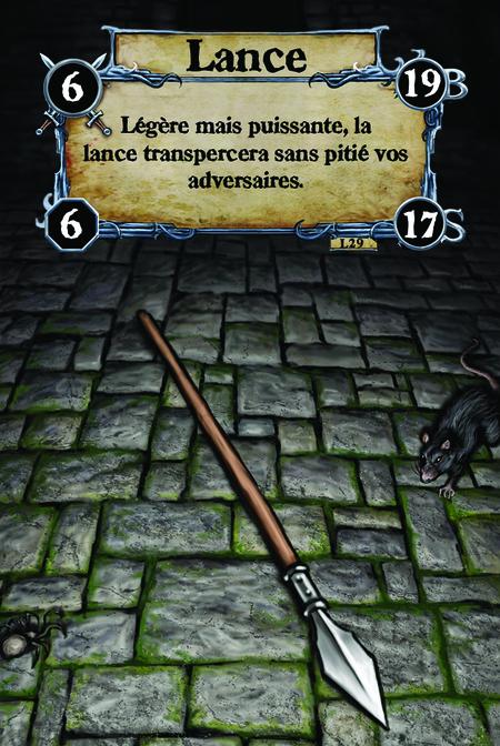 Lance Légère mais puissante, la lance transpercera sans pitié vos adversaires.