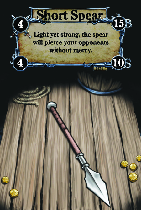 Short Spear Light yet strong, the spear will pierce your opponents without mercy.