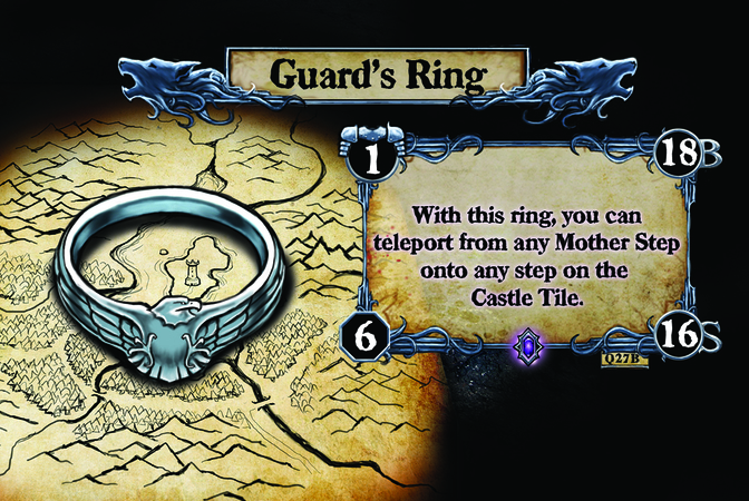 Guard's Ring With this ring, you can teleport from any Mother Step onto any step on the Castle Tile.