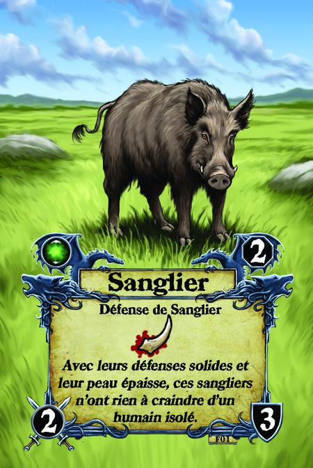 Sanglier  Défense de Sanglier  Avec leurs défenses solides et leur peau épaisse, ces sangliers n'ont rien à craindre d'un humain isolé.