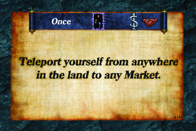 Once  Teleport yourself from anywhere in the land to any Market.