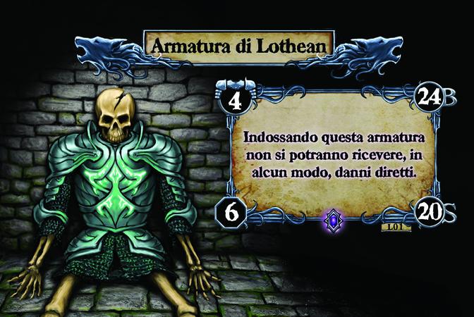 Armatura di Lothean Indossando questa armatura non si potranno ricevere, in alcun modo, danni diretti.