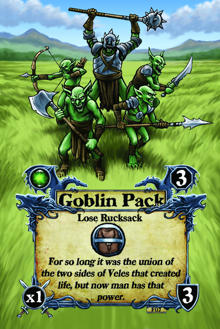 Goblin Pack  Lose Rucksack  For so long it was the union of the two sides of Veles that created life, but now man has that power.