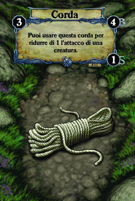 Corda Puoi usare questa corda per ridurre di 1 l'attacco di una creatura.